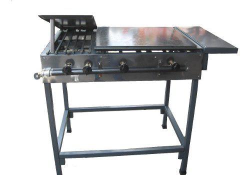 Plancha con quemadores y tortilladora doble uso cod. vg