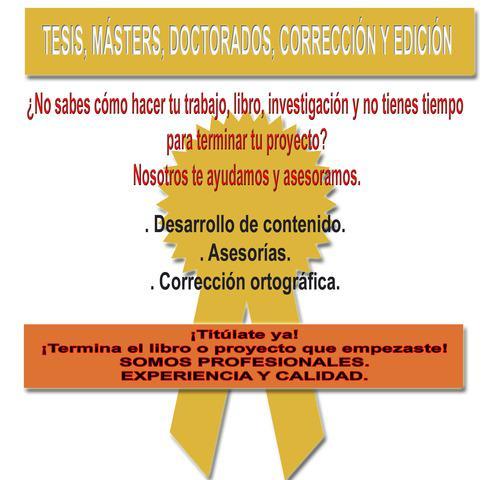 Tesis, tesinas, masters.