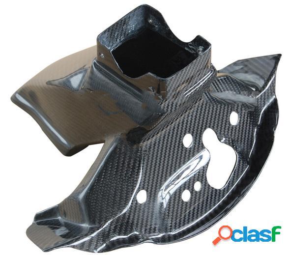 Soporte del carenado superior, fibra de carbono. Motos Kawasaki ZX10 de 2011.