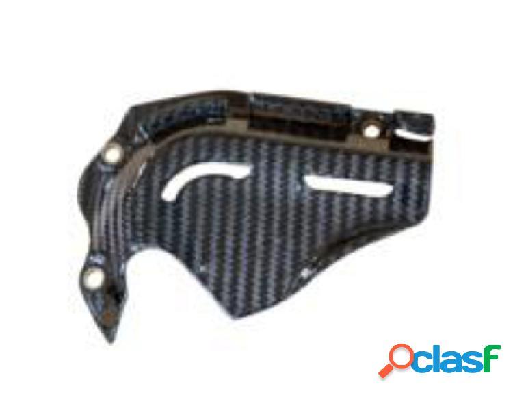 Cubierta parael piñón de fibra de carbono para motos Ducati Hypermotard, de 2013.