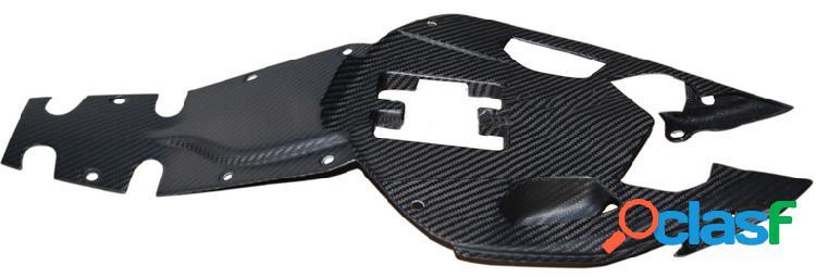 Pieza inferior del asiento de fibra de carbono. Motos MV Brutale 675 de 2012.