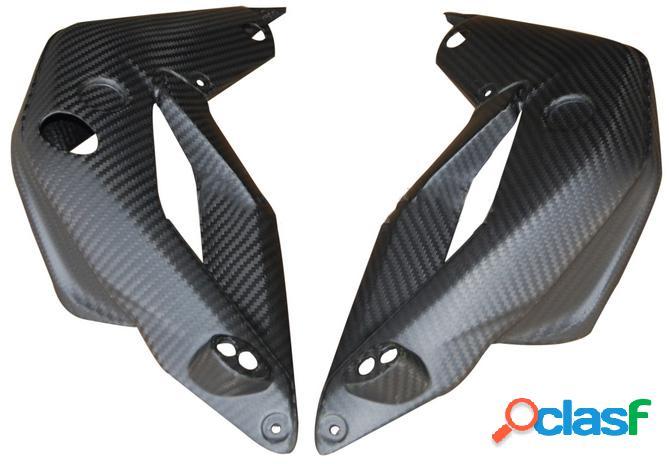 Protección para el radiador de fibra de carbono para motos MV Brutale 675 de 2012.