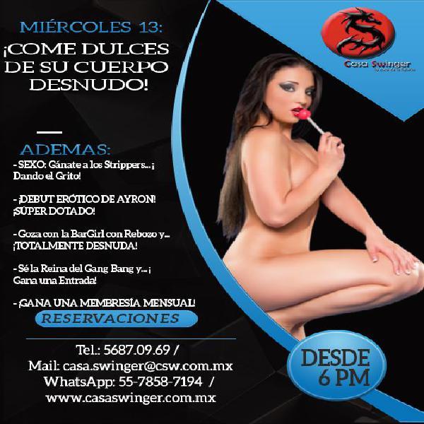 Miércoles 13 en CSW: ¡Come Dulces De Su Cuerpo Desnudo!