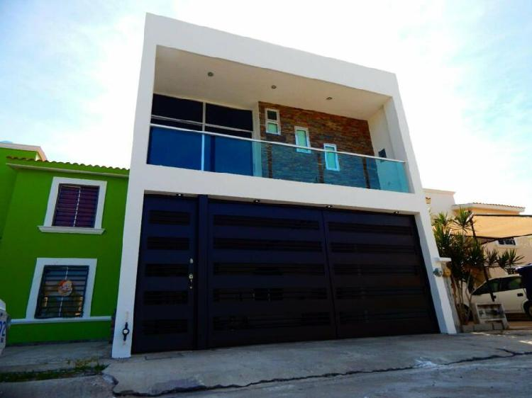 Casa en renta en mazatlán de 3 recámaras sin muebles en