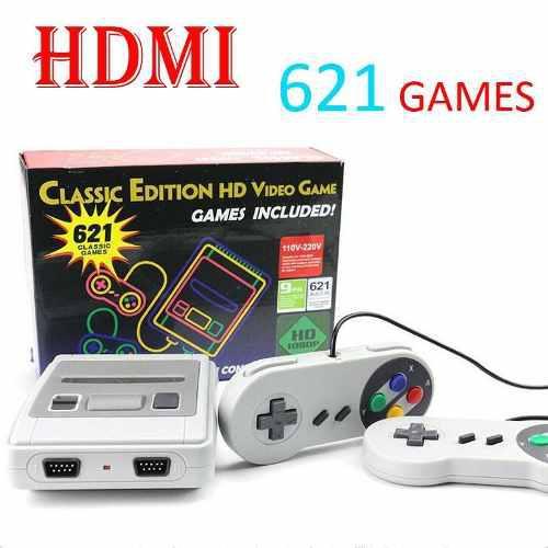 Consola videojuegos clásicos hd tv 621 juegos con hdmi