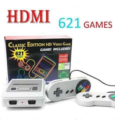 Consola videojuegos clásicos hd tv 621 juegos hdmi