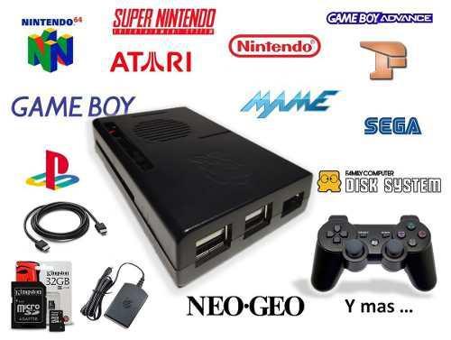 Mini consola videojuegos retro con control ps3 inalambrico