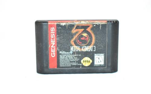 Mortal combat 3 sega genesis cartucho peleas videojuego retr