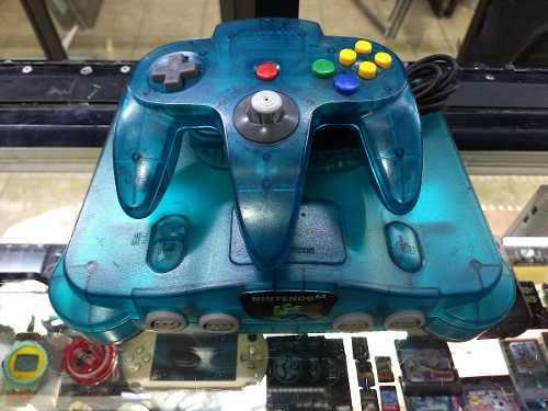 Nintendo 64 completo color azul aqua envio gratis -