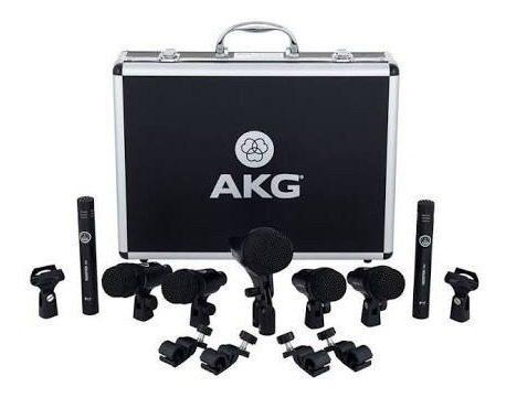 Set micrófonos batería akg 7pcsdrumset sesión i envío