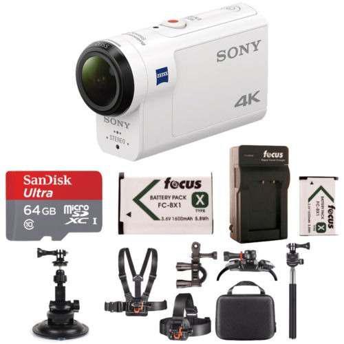 Sony fdrx3000/w 4k hd grabación, acción cam videocámara
