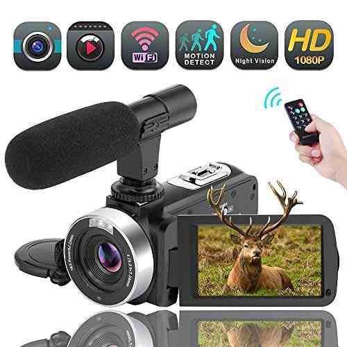 Videocámara sunlea full hd 1080p zoom 16x wifi microfono
