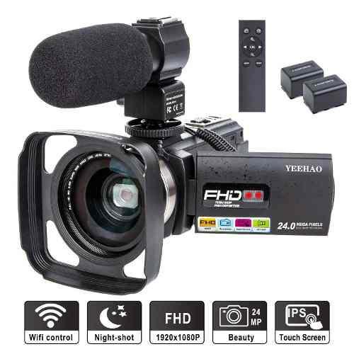 Videocámara vídeo cámara yeehao wifi hd 1080p 24mp 16x