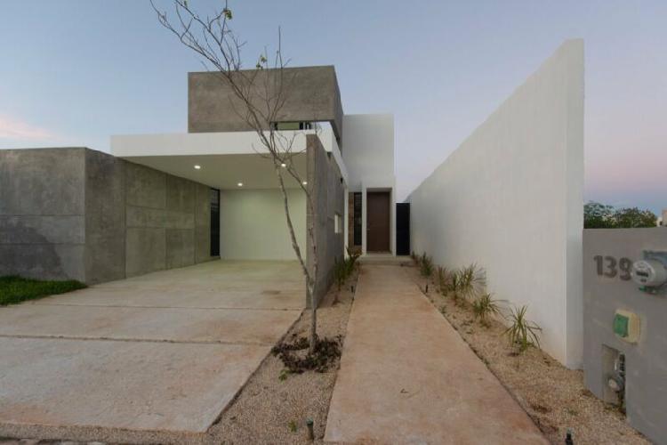 Casa nueva en venta en arbórea, lote 139, conkal, mérida