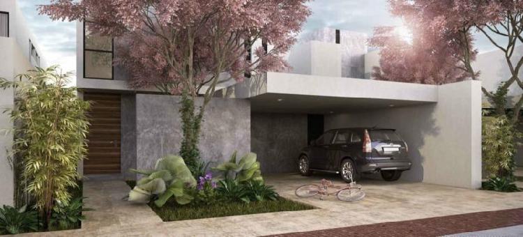 Casa nueva en venta en privada arbórea lote 169, conkal,