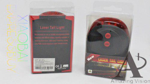 Lampara led /2 laser para bicicleta (mayoreo) mod: 15410-8