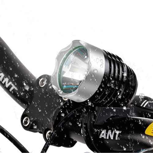 Linterna de bicicleta t6 luz batería recargable impermeable