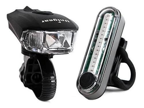 Luces bicicleta sensor inteligente recargable + luz trasera