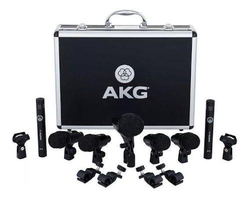 Set microfonos bateria akg drum set session 1 incluye envio