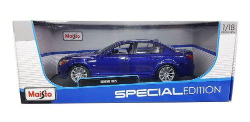 Bmw m5 azul autos escala 1/18 maisto metal carros coleccion