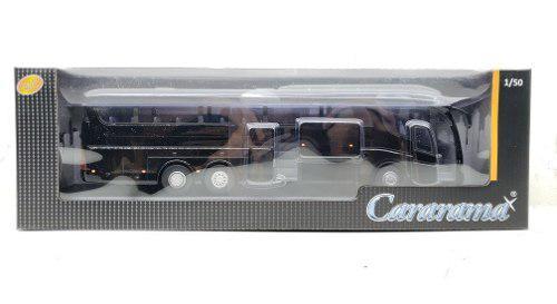 Cararama 1/50 autobus irizar pb negro metálico autobus