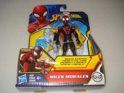 Figura marvel spiderman quick shot 13.5cm miles morales