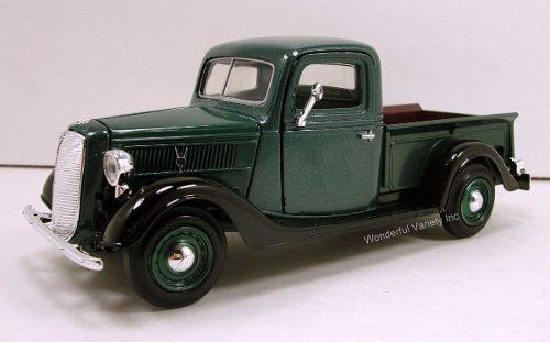 Ford pickup 1937 american classics by motor max 1:24 verde