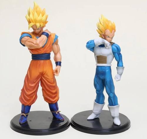 Goku y vegeta con caja dragon ball z figura colección 2
