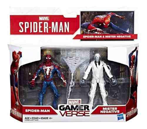Marvel gamerverse figuras spider-man & mister negative 2019