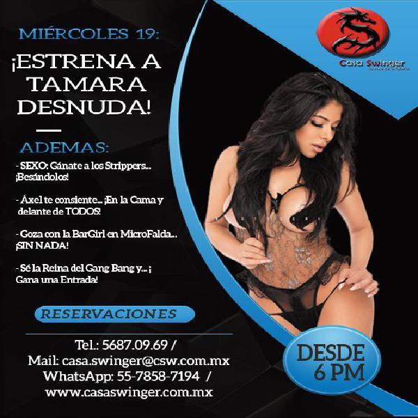 Miércoles 19 en csw: ¡estrena a tamara desnuda!