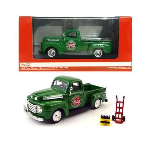 Motor city 1/43 camioneta ford 1948 coca cola verde