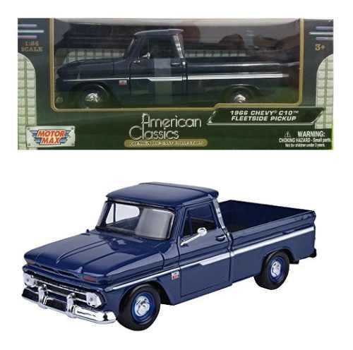 Motor max 1/24 classics chevrolet c-10 fleetside 1966 azul m