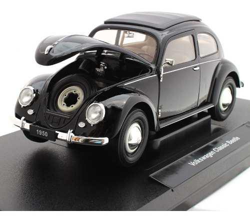 Negro volkswagen beetle 1950 vocho nuevo escala 1:18 welly