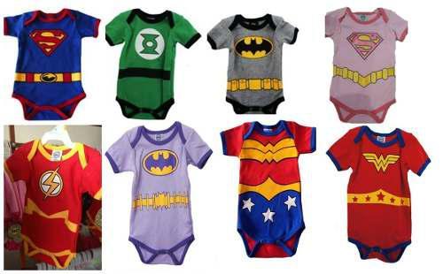 Pañaleros mayoreo 5 pza super héroes dc comics trajes