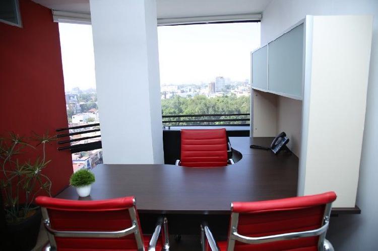 Renta tu oficina virtual con vista panorámica en edificio