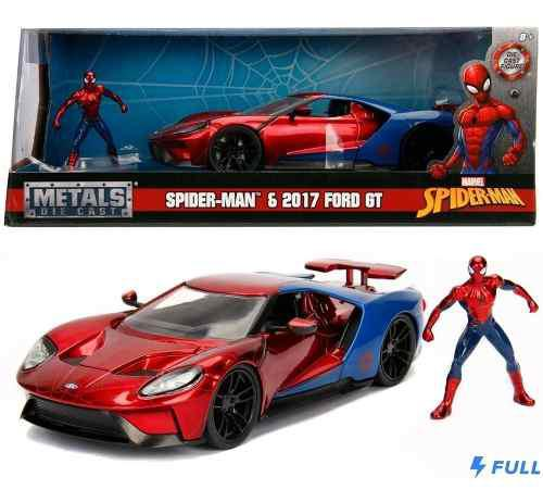 Spiderman ford gt hombre araña jada 1:24 env gratis