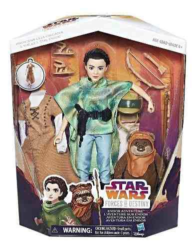 Star wars forces of destiny princesa leia y ewok hasbro