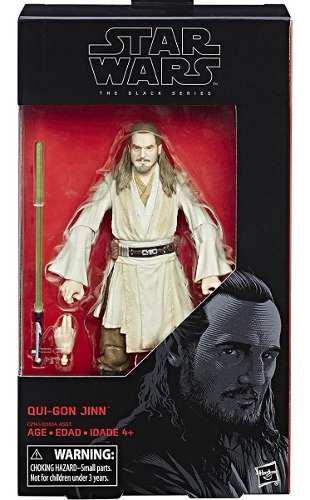 Star wars qui gon jinn figura 18 cm black series hasbro