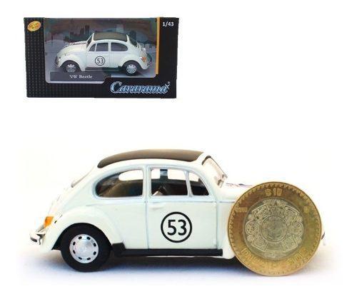 Volkswagen beetle herbie 53 vocho cararama escala 1:43 nuevo