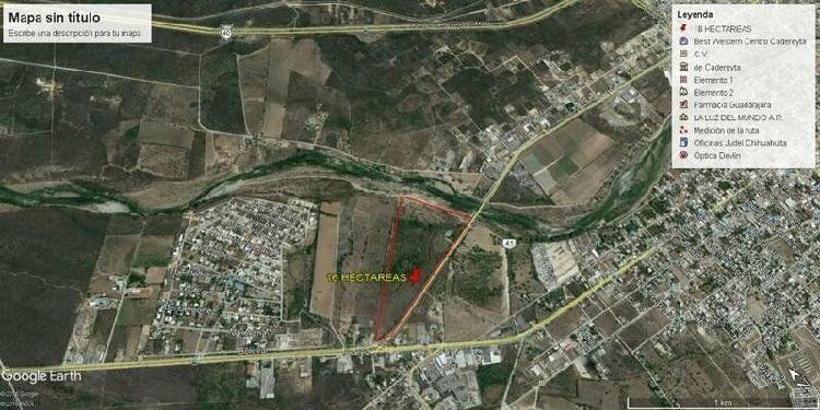 Terreno 16 hectáreas carretera libre a reynosa cadereyta