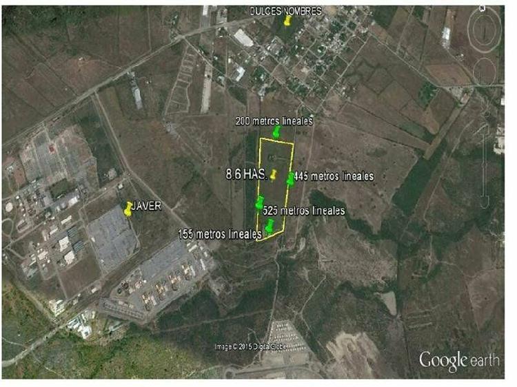 Terreno 8.6 hectáreas industrial dulces nombres pesqueria