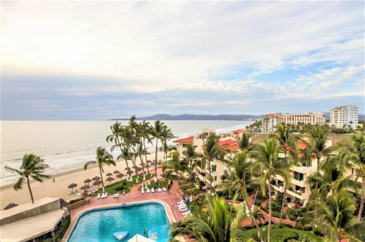 Beachfront condo in ocean terrace, nuevo vallarta