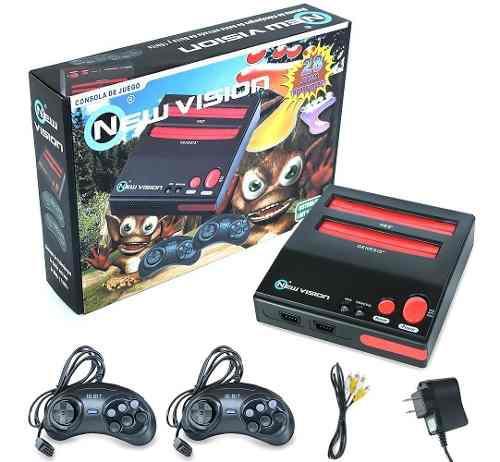 Consola nintendo nes y sega retro incluye video juegos nueva