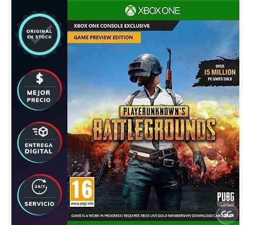 Juego p/xbox one [xbox live] playerunknown's battlegrounds