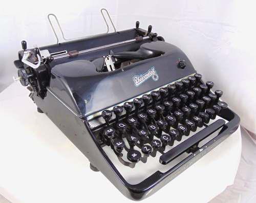 Maquina escribir antigua, rheinmetall, coleccion vintage