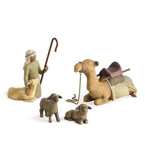 Natividad del sauce, pastor y animales estables
