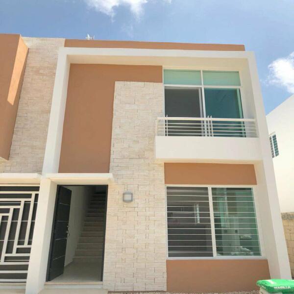 Casa nueva en renta al sur de cancun en privada