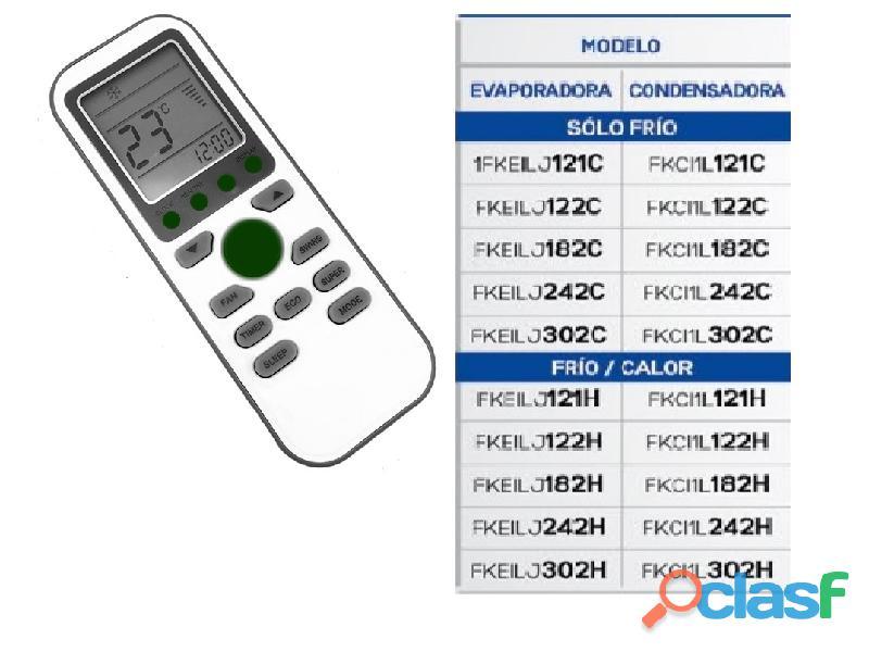 Control minisplit frikko modelo ms122h i