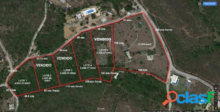 Terreno en venta el barrial, carretera nacional, santiago, n.l.