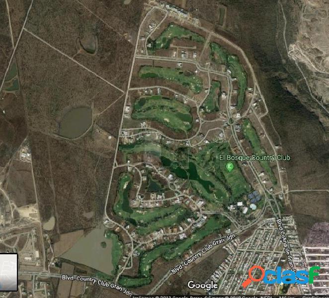 Terreno en Venta en el Bosque Country, colinda con campo de golf, vista al lago León, Gto